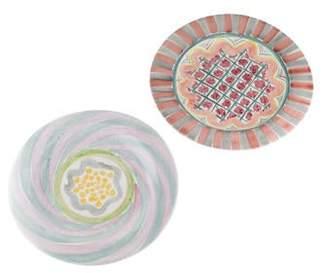 Mackenzie Childs MacKenzie-Childs Pair of Dinner Plates