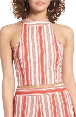 Women's Band Of Gypsies Stripe Crop Top $55 thestylecure.com
