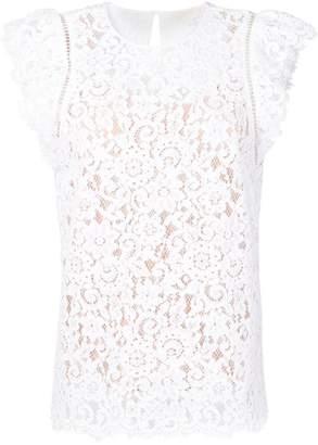 17793169c1d56 White Cotton Lace Top - ShopStyle Australia