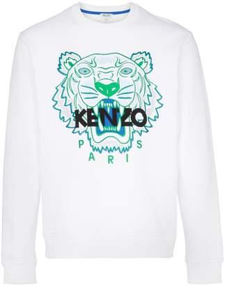 Kenzo tiger logo-embroidered cotton sweatshirt