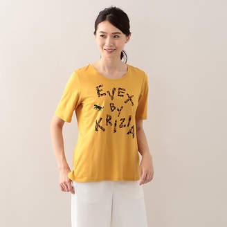 Evex by Krizia (エヴェックス バイ クリツィア) - エヴェックス バイ クリツィア 【ウォッシャブル】ロゴアニマルTシャツ