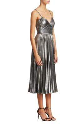 Marchesa Metallic Midi Dress