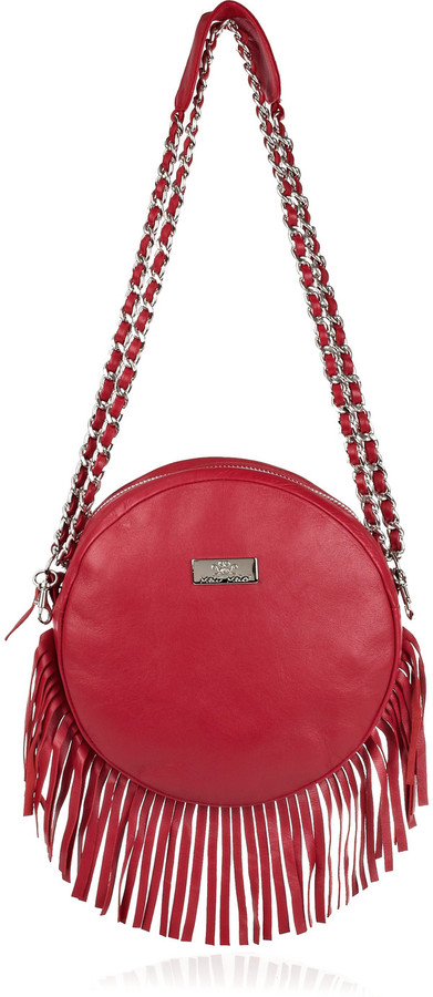 Meli Melo Bon Bon fringed leather shoulder bag