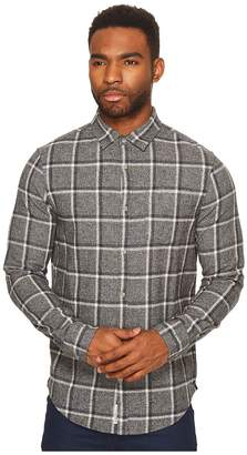 Original Penguin Long Sleeve Jaspe Brushed Flannel Plaid Heritage Men's Long Sleeve Button Up