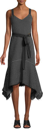 Derek Lam 10 Crosby Striped V-Neck Cami Dress