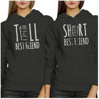 f103c1b3b9 365 Printing Tall Short Cup BFF Matching Hoodies Fleece For Teen Girls