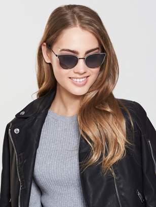 Polaroid Retro Sunglasses - Black/Gold