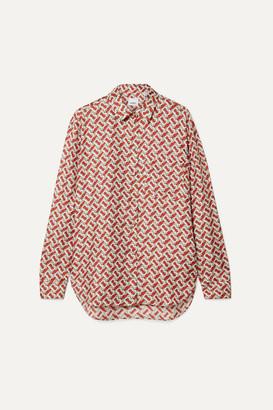 Burberry Printed Silk-satin Twill Shirt - Red