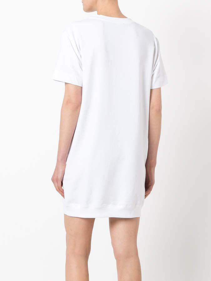 love moschino t shirt kleid mit grafischem print damen. Black Bedroom Furniture Sets. Home Design Ideas