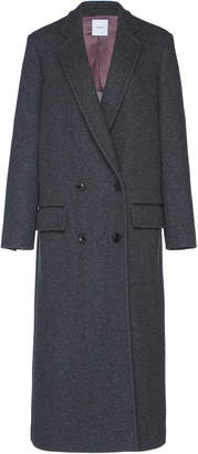 Agnona Platino Double-Breasted Cashmere Coat