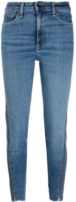 Rag & Bone cropped jeans with side zips