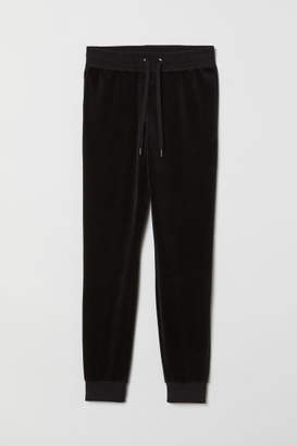 H&M Velour Joggers - Black