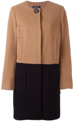 Twin-Set colour block single-breasted coat $310.81 thestylecure.com