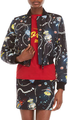 Love Moschino Printed Bomber Jacket