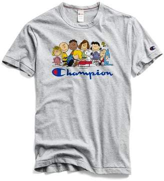 Todd Snyder Peanuts x Champion by Champion X Peanuts Peanuts Gang T-Shirt in Light Grey Mix