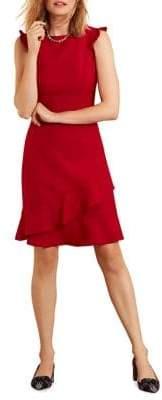 Brooks Brothers Red Fleece Ruffled A-Line Dress