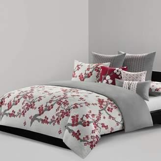 Natori N Cherry Blossom Duvet Cover Set