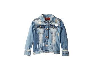 7 For All Mankind Kids Cropped Denim Jacket (Little Kids)