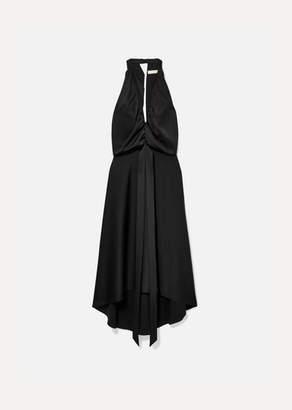 Chloé Open-back Draped Satin Dress - Black