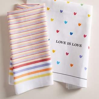 west elm Love is Love Tea Towels (Set of 2)