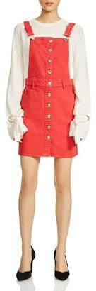 Maje Rira Overalls-Style Mini Dress