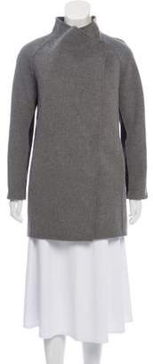 Vince Wool-Blend Knit-Accented Coat