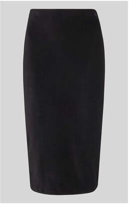 Whistles Velvet Jersey Tube Skirt