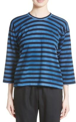 Women's Comme Des Garcons Border Stripe Tee $380 thestylecure.com