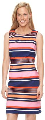 Ronni Nicole Women's Striped Sheath Dress
