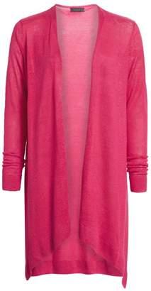 Saks Fifth Avenue Silk & Linen Longline Open-Front Cardigan