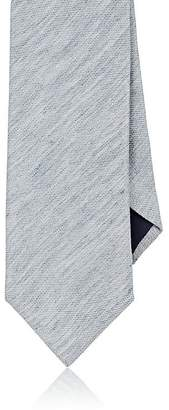 Barneys New York MEN'S TEXTURED LINEN-SILK NECKTIE