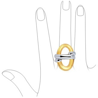 Murano Masini Amber Oval Glass & Sterling Silver Ring