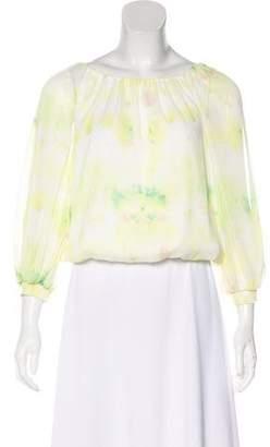 Alice + Olivia Tie-Dye Long Sleeve Top