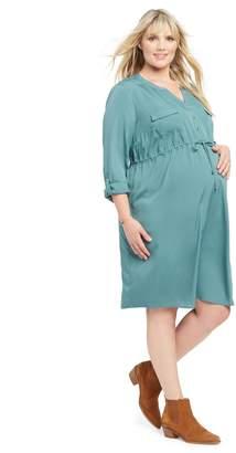 Motherhood Maternity Plus Size Maternity Shirt Dress