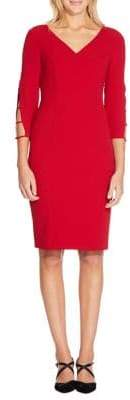 Adrianna Papell Textured Crepe Sheath Dress