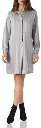 Reiss Maribel Oversize Satin Shirt Dress