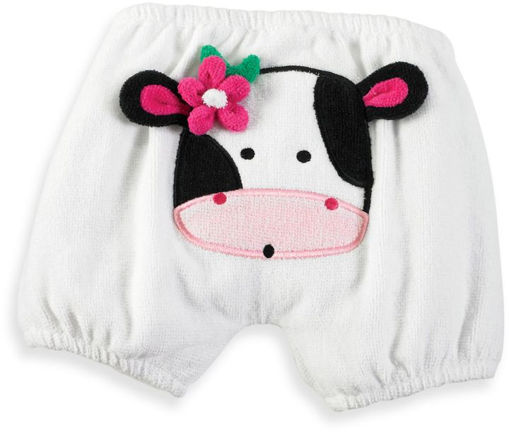 Mud Pie Diaper Cover with Cow Applique