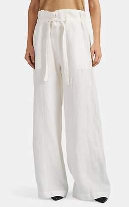 Nili Lotan Women's Esmae Linen Wide-Leg Pants - Natural