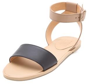 Maison Martin Margiela Contrast Band Flat Sandals