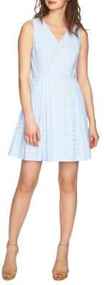Cynthia Steffe Sleeveless Eyelet Dress
