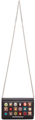 Fendi Black Rainbow Tube Wallet Chain Bag