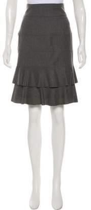 Valentino Virgin Wool-Blend Skirt Grey Virgin Wool-Blend Skirt