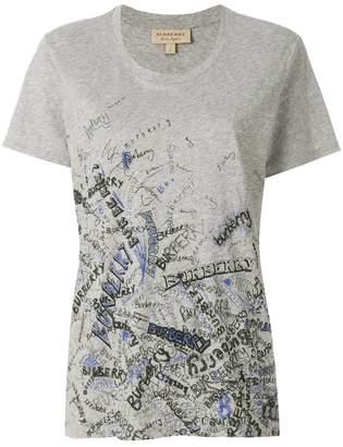 Burberry doodle print T-shirt