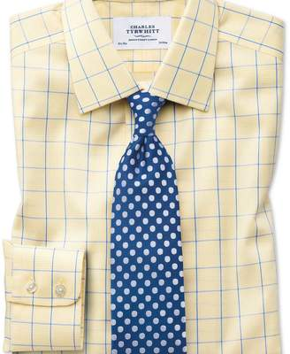 Charles Tyrwhitt Classic fit non-iron Prince of Wales yellow and royal blue shirt
