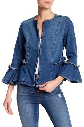 Live A Little Bell Sleeve Denim Jacket