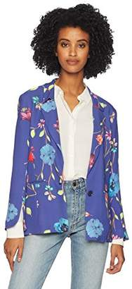 Parker Women's Ginger Long Sleeve Fitted Floral Blazer