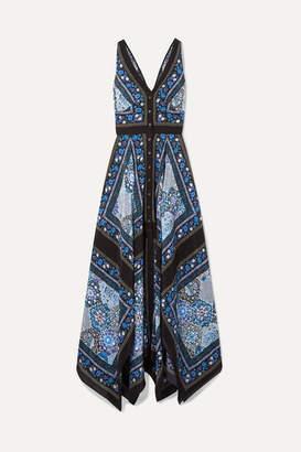 Altuzarra Duel Printed Silk Crepe De Chine Maxi Dress - Black