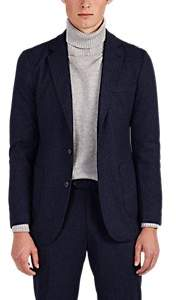 Piattelli MEN'S MÉLANGE BRUSHED KNIT TWO-BUTTON SPORTCOAT