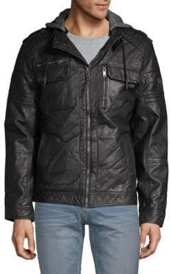 ProjekRaw Faux Leather Jacket