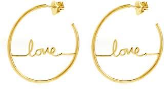 ADORNIA Love Hoop Earrings